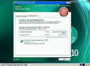 actualizar Kaspersky Rescue Disk